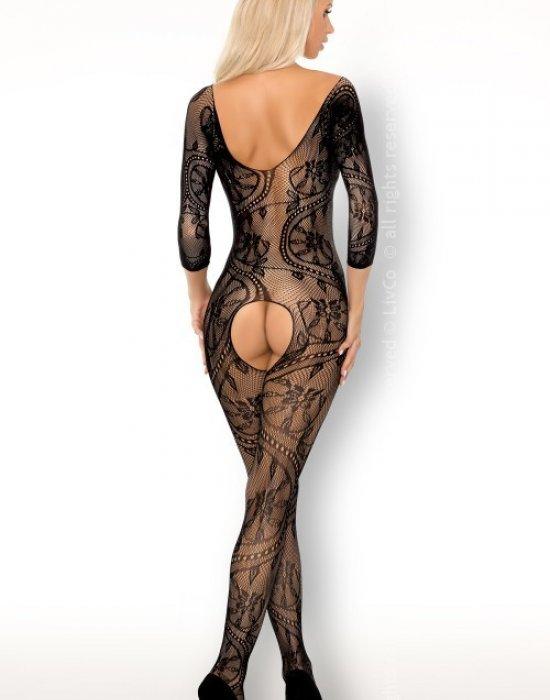 Целокупно мрежесто боди в черен цвят Fainam, LivCo Corsetti Fashion, Целокупни бодита - Modavel.com