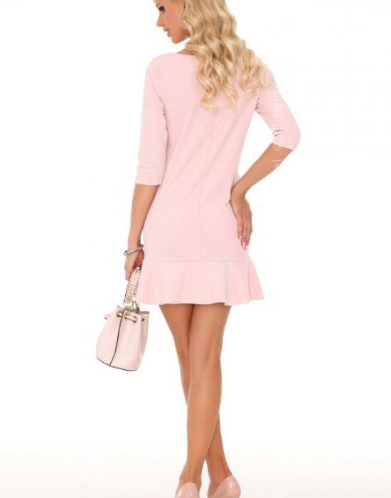 Ежедневна къса рокля в розово Marima, Merribel, Къси рокли - Modavel.com