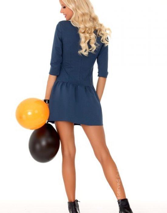 Ежедневна къса рокля в синьо Marhix, Merribel, Къси рокли - Modavel.com