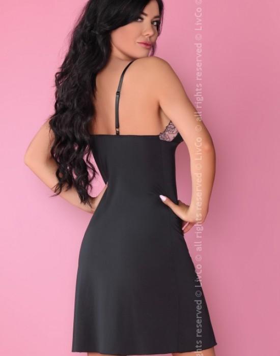 Еротична нощница с прашки в черно Malaya, LivCo Corsetti Fashion, Комплекти - Modavel.com