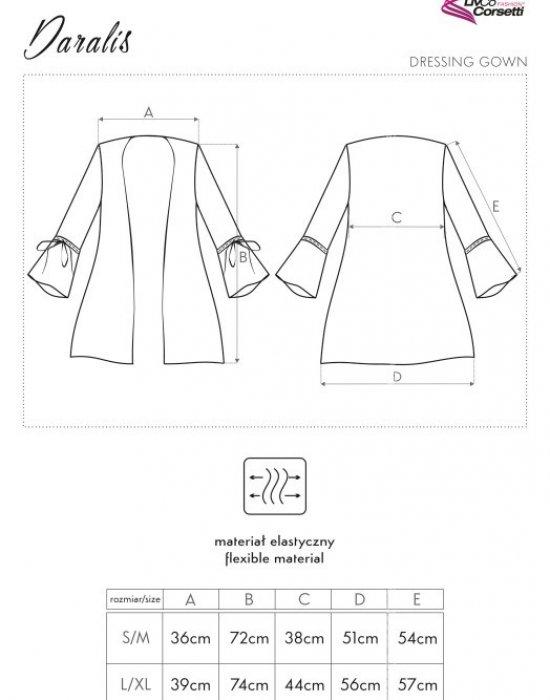 Секси прозрачен халат от тюл Daralis, LivCo Corsetti Fashion, Секси Халати - Modavel.com