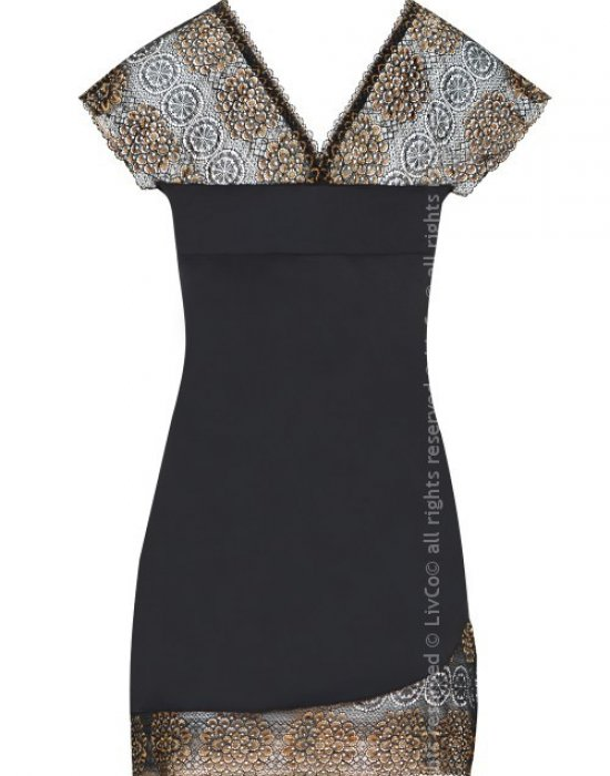 Секси нощница в черно Keisha, LivCo Corsetti Fashion, Нощници - Modavel.com