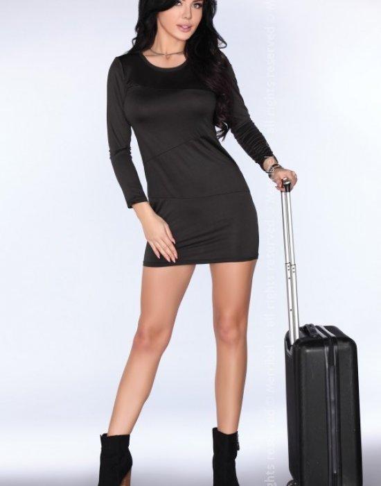 Ежедневна къса рокля в черно CG005, Merribel, Къси рокли - Modavel.com