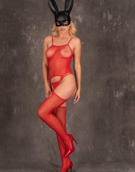 Секси целокупно боди в червен цвят Amrin