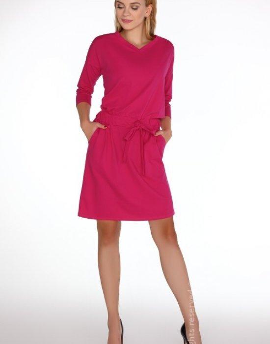 Ежедневна миди рокля в розово Marlann, Merribel, Миди рокли - Modavel.com