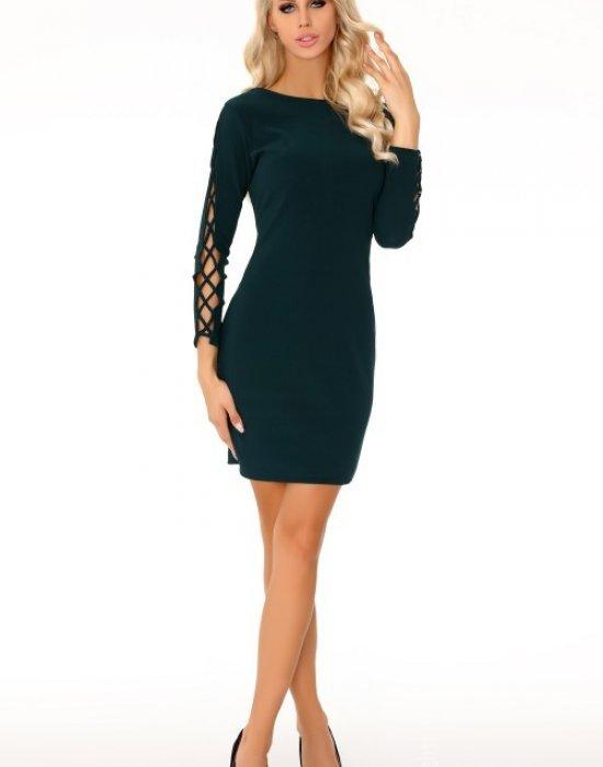 Елегантна къса рокля в тъмнозелено Merciana, Merribel, Къси рокли - Modavel.com