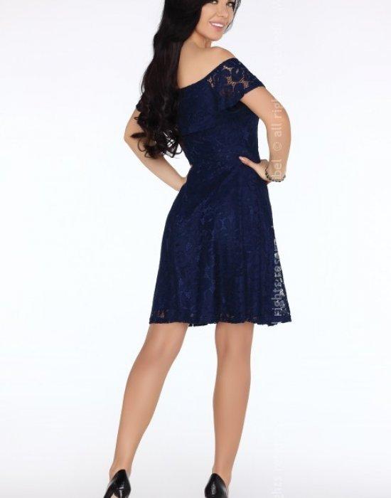 Елегантна миди рокля в синьо Damlana, Merribel, Миди рокли - Modavel.com