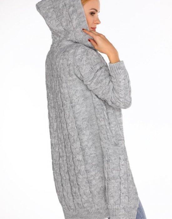 Дамска жилетка с качулка в сиво Jolannda, Merribel, Връхни - Modavel.com