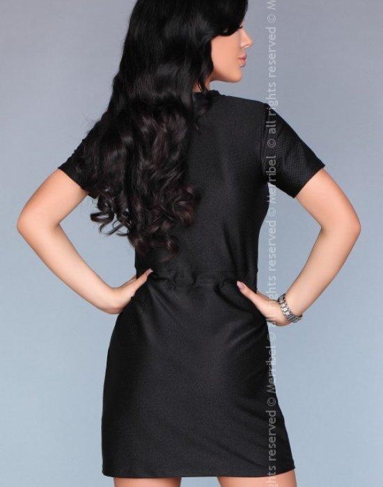 Ежедневна мини рокля в черно, Merribel, Къси рокли - Modavel.com