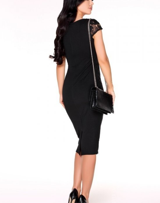 Елегантна миди рокля в черно Mimi, Merribel, Миди рокли - Modavel.com