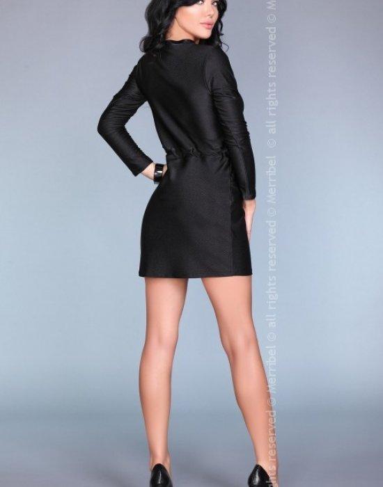 Ежедневна къса рокля в черно, Merribel, Къси рокли - Modavel.com