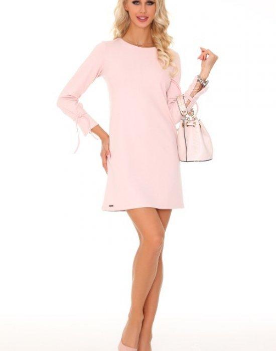 Ежедневна мини рокля в розово Mariabela, Merribel, Къси рокли - Modavel.com