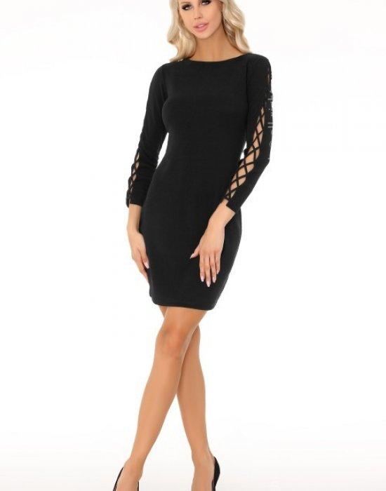 Елегантна къса рокля в черно Merciana, Merribel, Къси рокли - Modavel.com