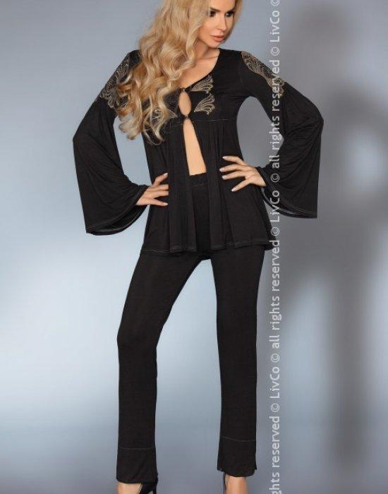 Секси пижама в черен цвят Aruna, LivCo Corsetti Fashion, Пижами - Modavel.com