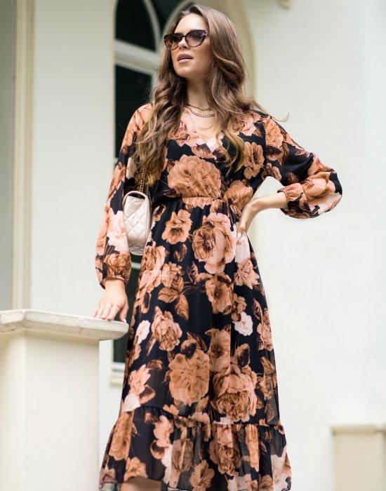 Миди рокля на цветя Nilisa, Merribel, Миди рокли - Modavel.com