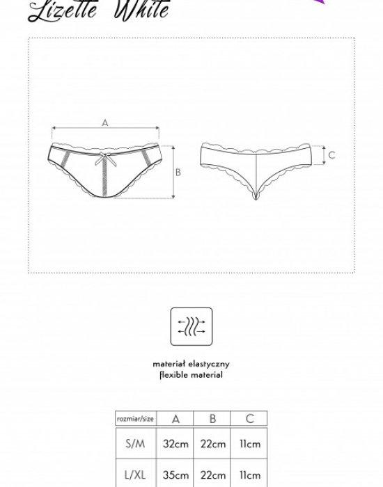 Дантелени бикини в бяло Lizette, LivCo Corsetti Fashion, Бикини - Modavel.com