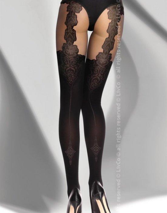 Секси чорапогащник в черен цвят Renitana 40 DEN, LivCo Corsetti Fashion, Чорапогащи - Modavel.com