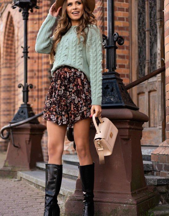 Къса дамска пола с флорални мотиви Libre