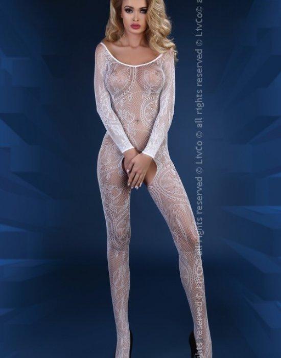 Целокупно боди в бял цвят Abra, LivCo Corsetti Fashion, Целокупни бодита - Modavel.com