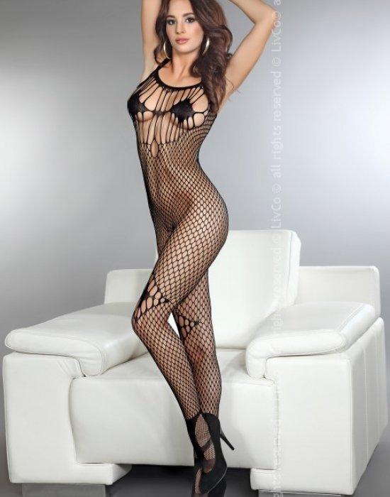 Целокупно боди в черен цвят Amkezia, LivCo Corsetti Fashion, Целокупни бодита - Modavel.com