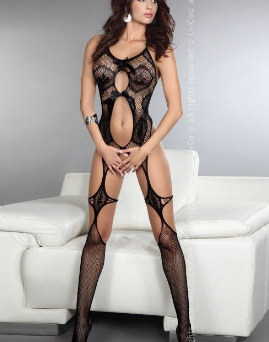 Целокупно боди в черен цвят Esmeralda, LivCo Corsetti Fashion, Целокупни бодита - Modavel.com
