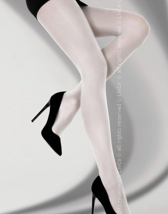 Чорапогащник в бял цвят Bryne 40 DEN, LivCo Corsetti Fashion, Чорапогащи - Modavel.com
