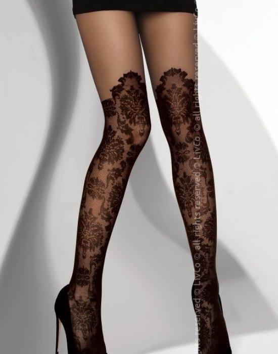 Чорапогащник в черен цвят Durdonata 20 DEN, LivCo Corsetti Fashion, Чорапогащи - Modavel.com