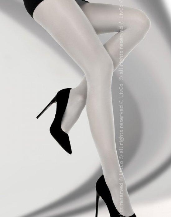 Чорапогащник в сив цвят Bryne 40 DEN, LivCo Corsetti Fashion, Чорапогащи - Modavel.com