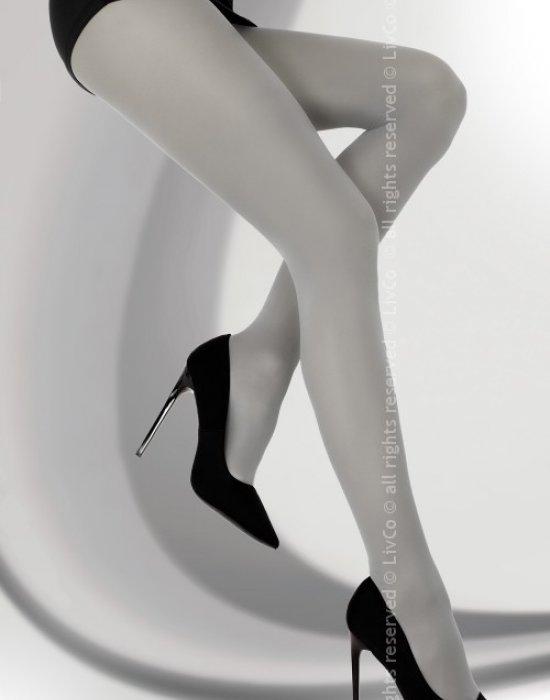 Чорапогащник в сив цвят Marcela 40 DEN, LivCo Corsetti Fashion, Чорапогащи - Modavel.com