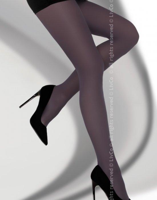 Чорапогащник в тъмнолилаво Marcela 40 DEN, LivCo Corsetti Fashion, Чорапогащи - Modavel.com