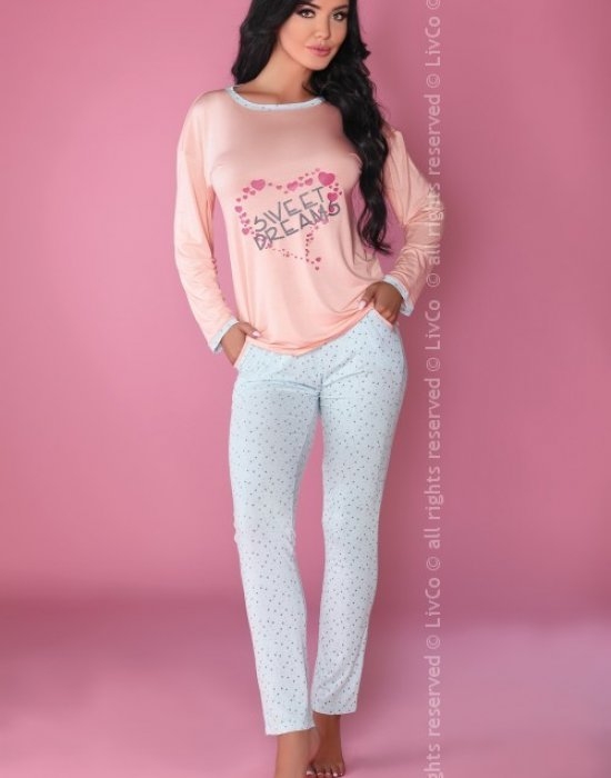 Дамска пижама от две части с принт MODEL 107, LivCo Corsetti Fashion, Пижами - Modavel.com