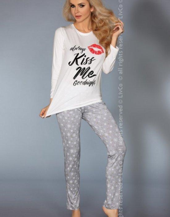 Дамска пижама с принт MODEL 109, LivCo Corsetti Fashion, Пижами - Modavel.com