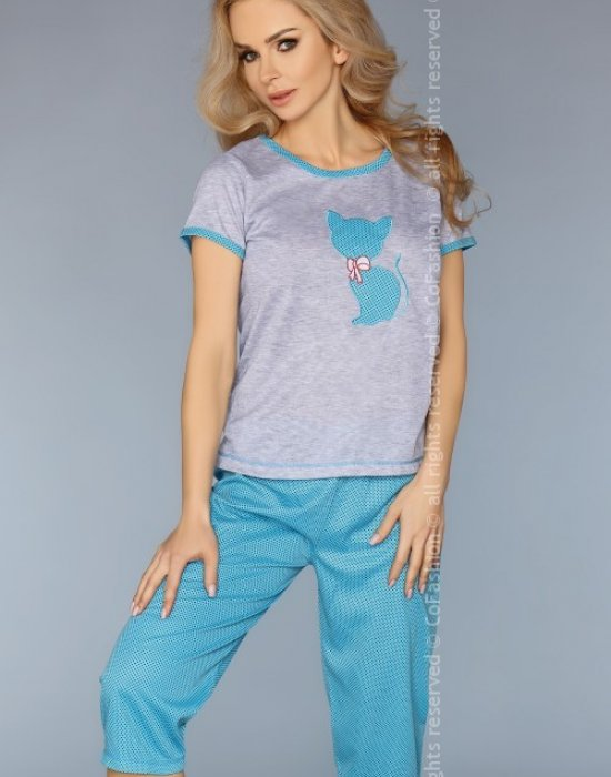 Дамска пижама в цвят тюркоаз, CoFashion, Пижами - Modavel.com