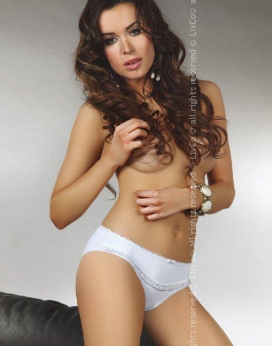 Дамски бели бикини Galena, LivCo Corsetti Fashion, Бикини - Modavel.com
