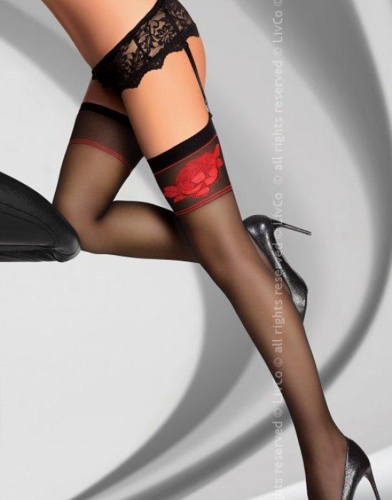 Дамски дълги чорапи в черно Amarachia 20 DEN, LivCo Corsetti Fashion, Чорапи - Modavel.com