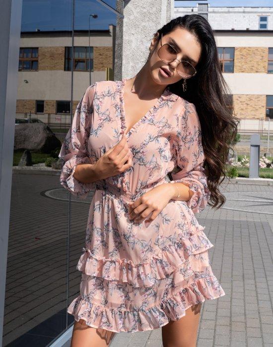 Ефирна къса рокля Orhinnas, Merribel, Къси рокли - Modavel.com