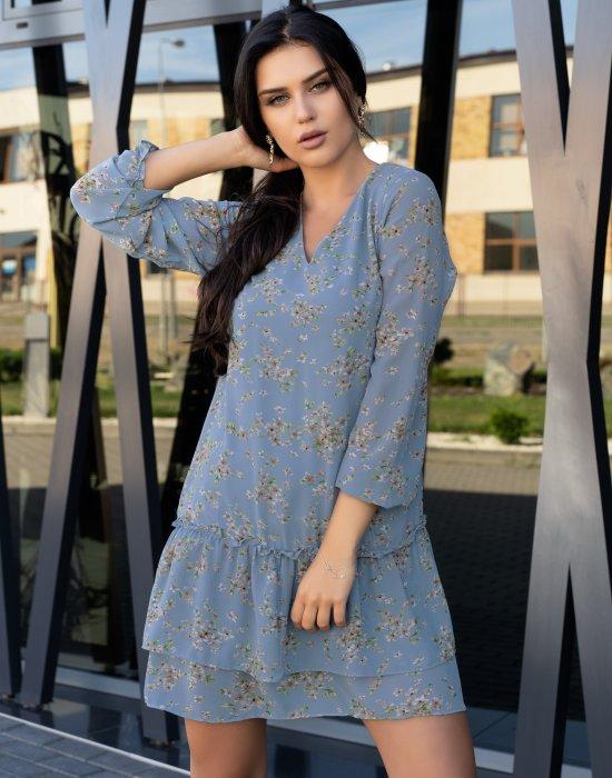 Ефирна рокля в син цвят Provena, Merribel, Къси рокли - Modavel.com