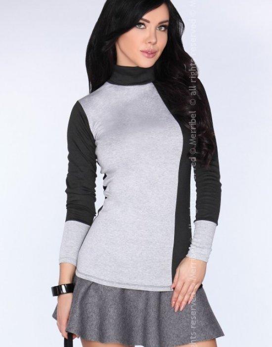 Елегантна дамска блуза в сиво CG010, Merribel, Блузи / Топове - Modavel.com