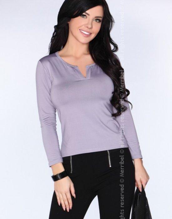 Елегантна дамска блуза в сиво CG011, Merribel, Блузи / Топове - Modavel.com