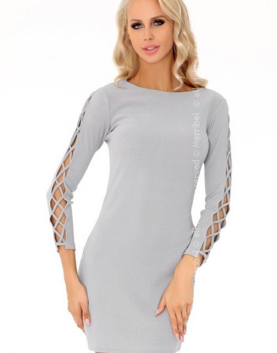 Елегантна къса рокля в сиво Merciana, Merribel, Къси рокли - Modavel.com