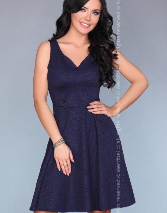 Елегантна миди рокля в синьо 13451, Merribel, Миди рокли - Modavel.com