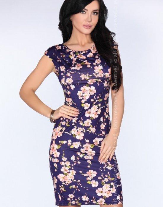 Елегантна миди рокля в синьо Paena, Merribel, Миди рокли - Modavel.com
