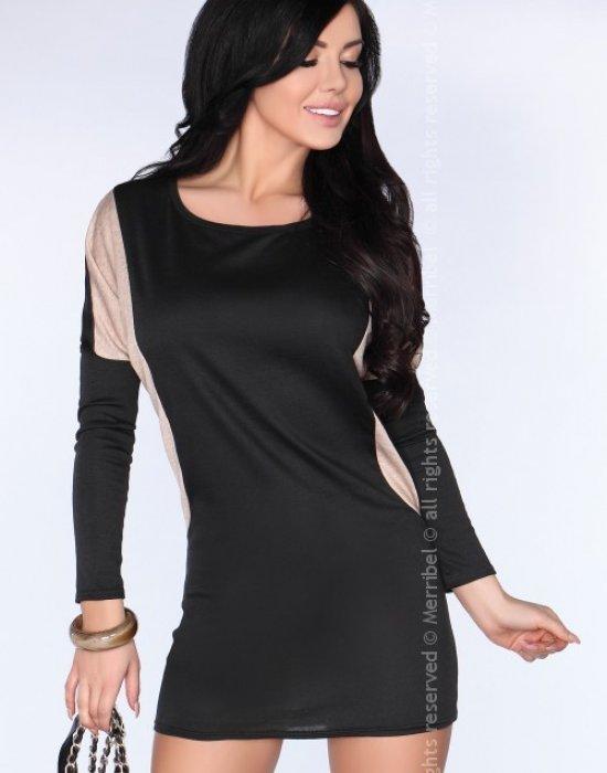 Елегантна мини рокля в черно CG020, Merribel, Къси рокли - Modavel.com
