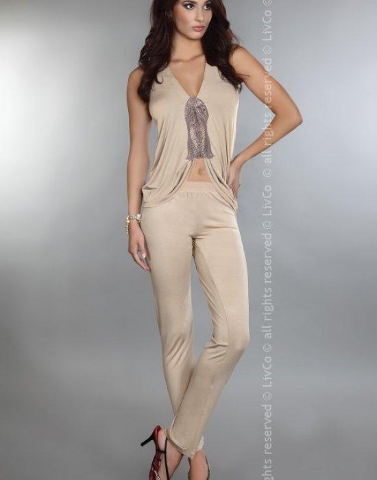 Елегантна пижама от две части Latin, LivCo Corsetti Fashion, Пижами - Modavel.com