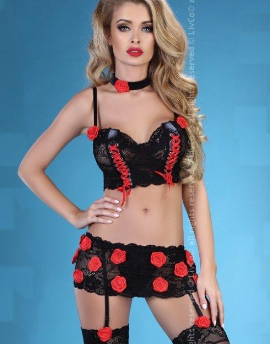 Еротичен комплект от пет части Vamp, LivCo Corsetti Fashion, Комплекти - Modavel.com