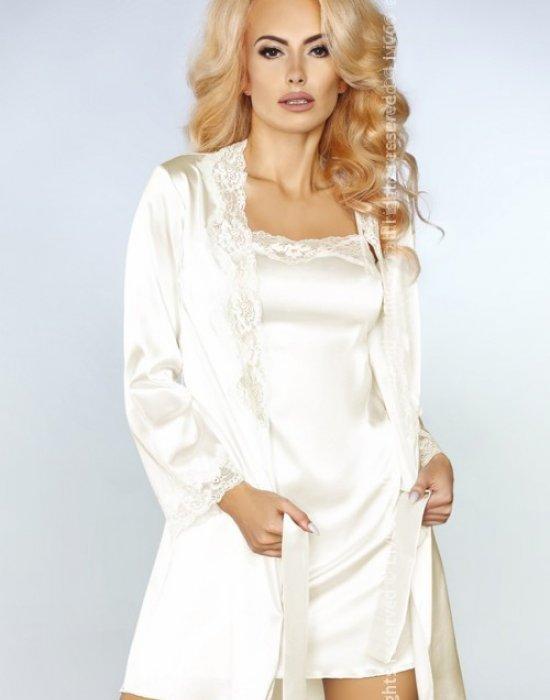 Еротичен комплект от три части в екрю Jacqueline, LivCo Corsetti Fashion, Комплекти - Modavel.com
