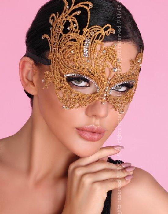 Еротична дантелена маска в златисто, LivCo Corsetti Fashion, Еротични - Modavel.com