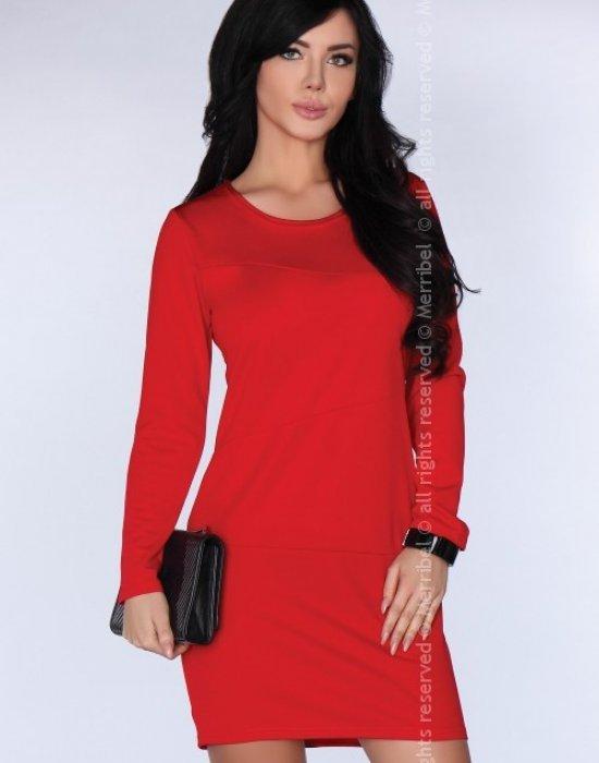 Ежедневна къса рокля в червено CG005, Merribel, Къси рокли - Modavel.com