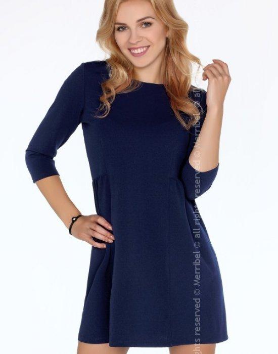 Ежедневна миди рокля в синьо Funanya, Merribel, Миди рокли - Modavel.com