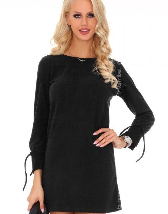 Ежедневна мини рокля в черно Mariabela, Merribel, Къси рокли - Modavel.com